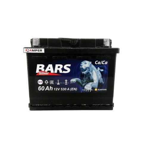 Аккумулятор Bars Silver 60Ач прямая полярность