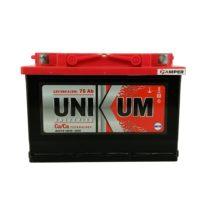 Аккумулятор Unikum 75Ач обратная полярность