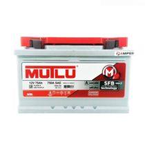 Аккумулятор Mutlu 75Ач обратная полярность (заниженный)